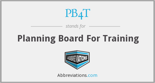 PB4T - Planning Board For Training