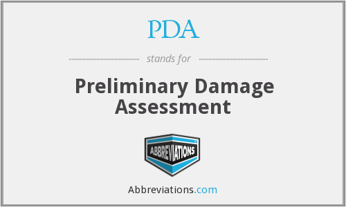 PDA - Preliminary Damage Assessment