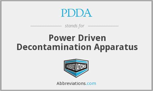 PDDA - Power Driven Decontamination Apparatus