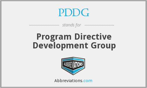 PDDG - Program Directive Development Group