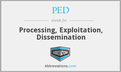 PED - Processing, Exploitation, Dissemination