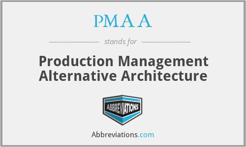 PMAA - Production Management Alternative Architecture