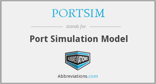 What does PORTSIM stand for?