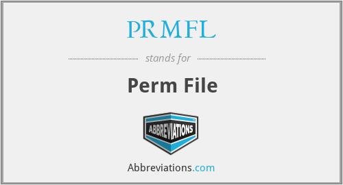PRMFL - Perm File