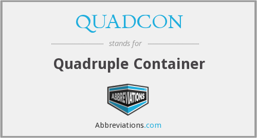 QUADCON - Quadruple Container
