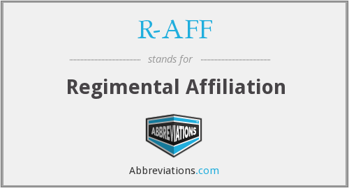 What does R-AFF stand for?