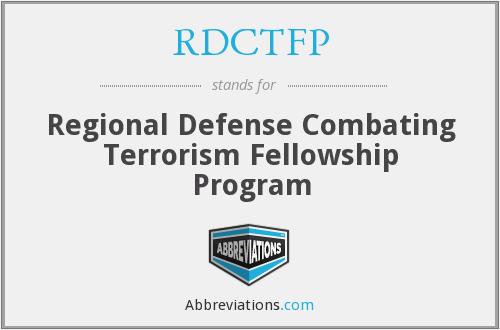 What does RDCTFP stand for?