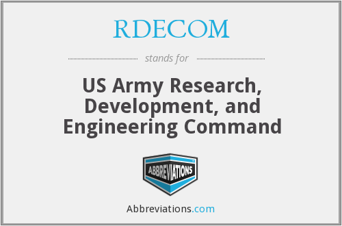 What does RDECOM stand for?