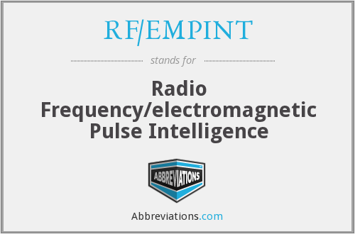 RF/EMPINT - Radio Frequency/electromagnetic Pulse Intelligence