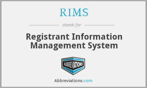RIMS - Registrant Information Management System