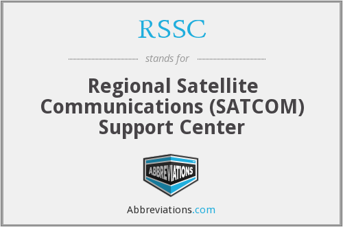 RSSC - Regional Satellite Communications (SATCOM) Support Center