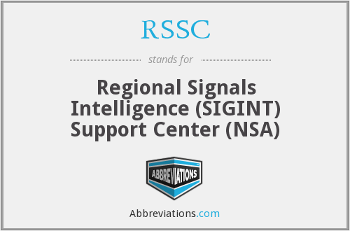 RSSC - Regional Signals Intelligence (SIGINT) Support Center (NSA)