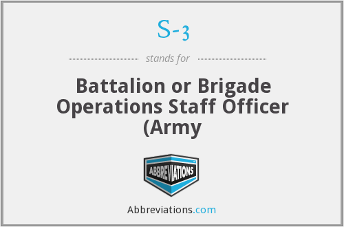 S-3 - Battalion or Brigade Operations Staff Officer (Army