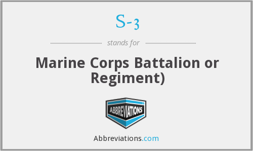 S-3 - Marine Corps Battalion or Regiment)
