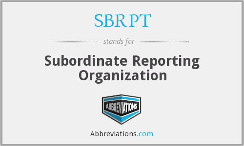 What does SBRPT stand for?