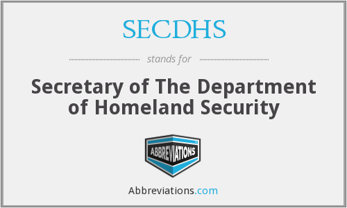 What does SECDHS stand for?