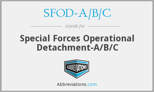 What does SFOD-A/B/C stand for?