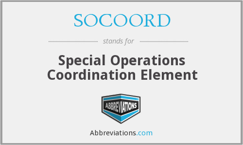 What does SOCOORD stand for?