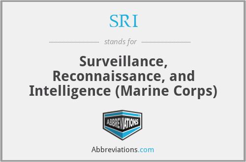 SRI - Surveillance, Reconnaissance, and Intelligence (Marine Corps)
