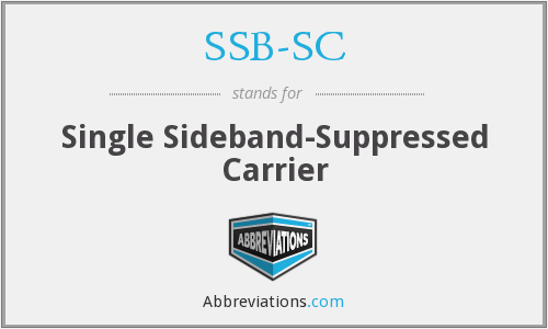 SSB-SC - Single Sideband-Suppressed Carrier