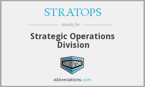 What does STRATOPS stand for?