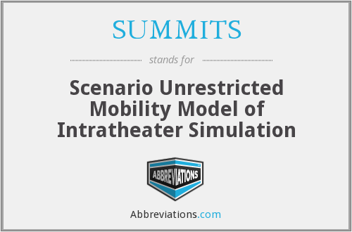 SUMMITS - Scenario Unrestricted Mobility Model of Intratheater Simulation