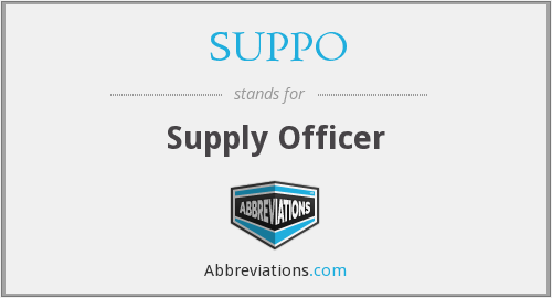 SUPPO - Supply Officer