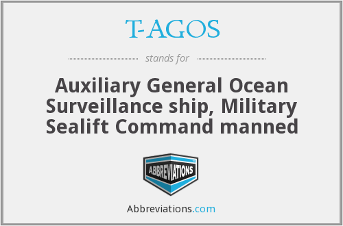 T-AGOS - Auxiliary General Ocean Surveillance ship, Military Sealift Command manned