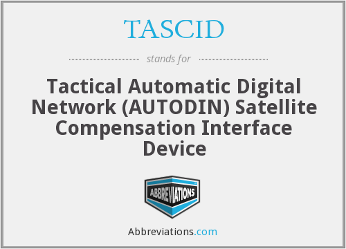 What does TASCID stand for?