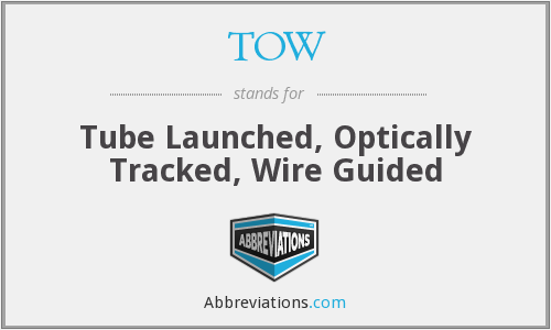 TOW - Tube Launched, Optically Tracked, Wire Guided
