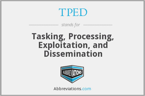 TPED - Tasking, Processing, Exploitation, and Dissemination