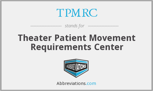 What does TPMRC stand for?