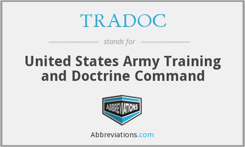 TRADOC - United States Army Training and Doctrine Command