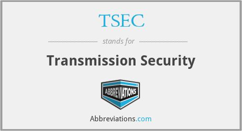 TSEC - Transmission Security
