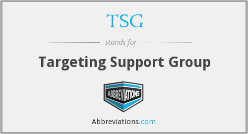 TSG - Targeting Support Group
