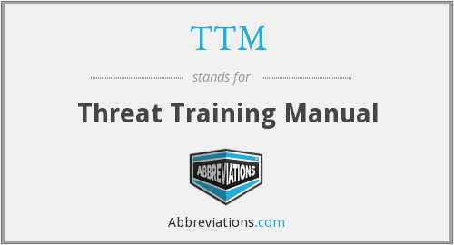 TTM - Threat Training Manual