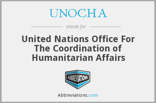What does UNOCHA stand for?