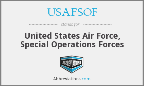 USAFSOF - United States Air Force, Special Operations Forces