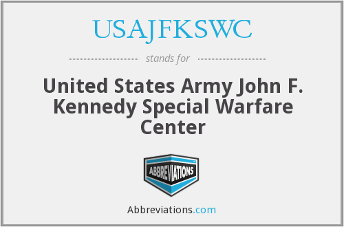 What does USAJFKSWC stand for?