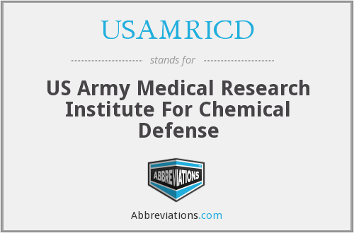 What does USAMRICD stand for?