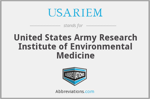 What does USARIEM stand for?