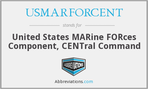 USMARFORCENT - United States MARine FORces Component, CENTral Command