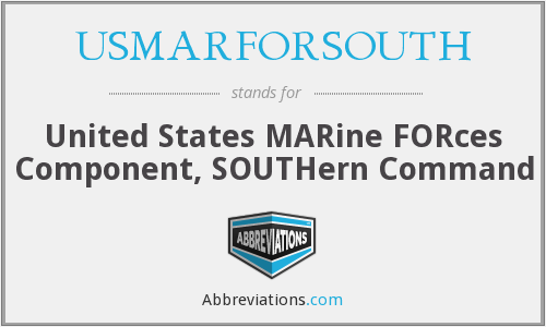 What does USMARFORSOUTH stand for?