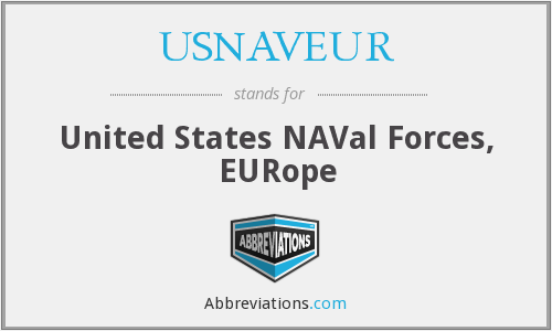USNAVEUR - United States NAVal Forces, EURope
