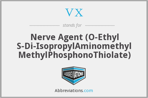 VX - Nerve Agent (O-Ethyl S-Di-IsopropylAminomethyl MethylPhosphonoThiolate)