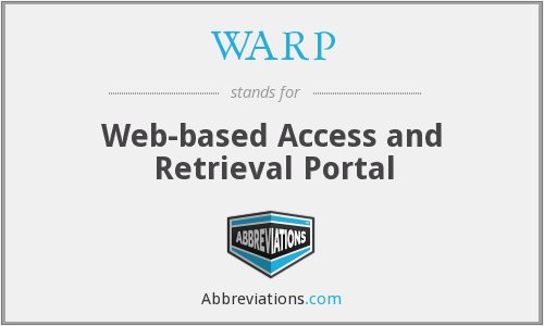 WARP - Web-based Access and Retrieval Portal
