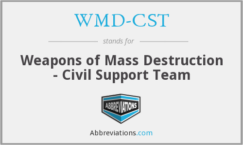 WMD-CST - Weapons of Mass Destruction - Civil Support Team