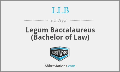 LLB - Legum Baccalaureus (Bachelor of Law)