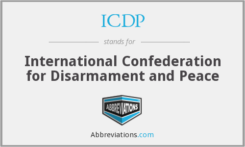 ICDP - International Confederation for Disarmament and Peace