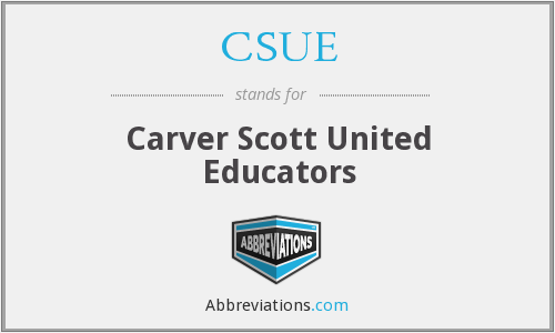 CSUE - Carver Scott United Educators